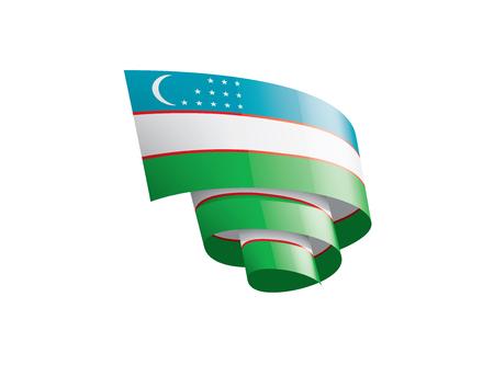 Uzbekistan national flag, vector illustration on a white background Imagens - 124987468