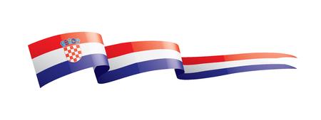 Kroatische Nationalflagge, Vektorillustration auf einem weißen Hintergrund