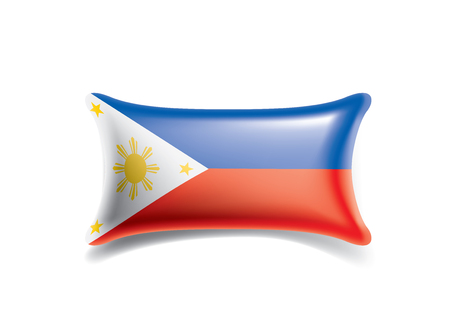 Philippines national flag, vector illustration on a white background