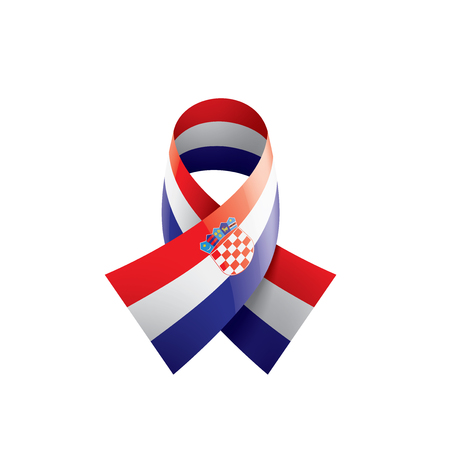 Croatia national flag, vector illustration on a white background