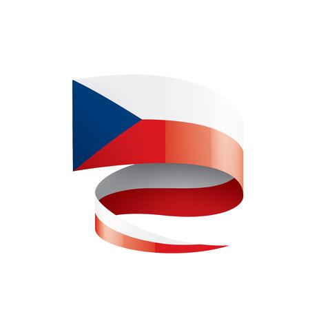 Czechia national flag, vector illustration on a white background Ilustração