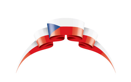 Czechia national flag, vector illustration on a white background 일러스트