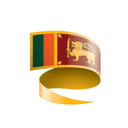 Sri Lanka national flag, vector illustration on a white background Ilustração