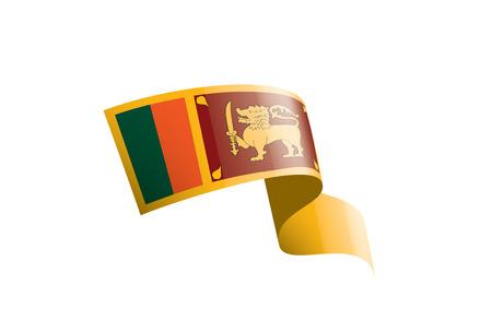 Sri Lanka national flag, vector illustration on a white background