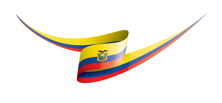 Ecuador national flag, vector illustration on a white background
