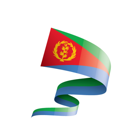 Eritrea national flag, vector illustration on a white background 向量圖像