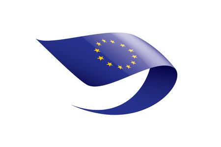 European union flag, vector illustration on a white background.