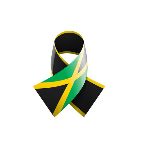 Jamaica national flag, vector illustration on a white background 일러스트