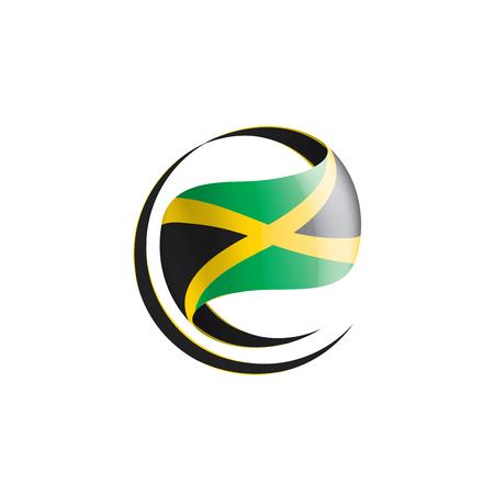 Jamaica national flag, vector illustration on a white background 向量圖像