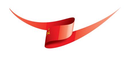 Die rote Flagge der UdSSR. Vektorillustration auf weißem Hintergrund