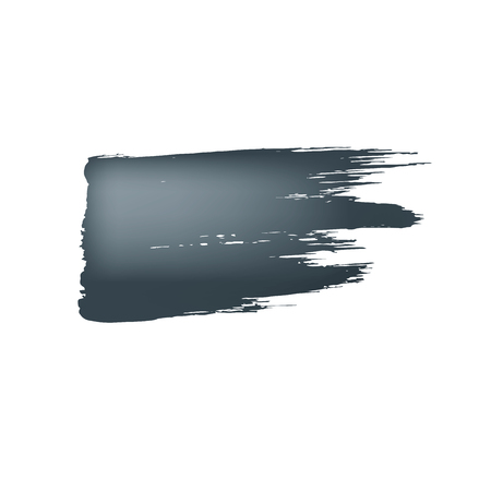Brush stroke of black paint on white background  イラスト・ベクター素材