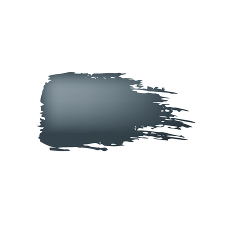 Brush stroke of black paint on white background Çizim