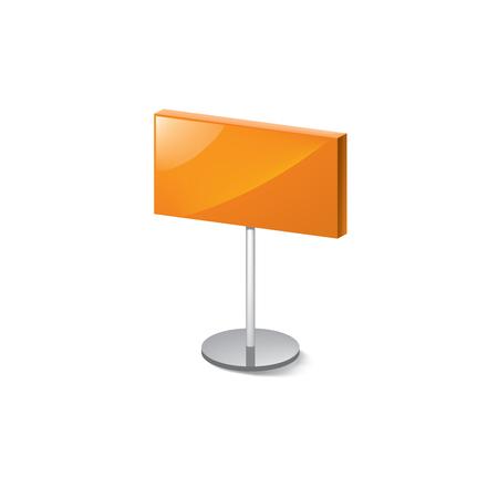 orange sticker on white background. Vector illustration. Ilustração Vetorial