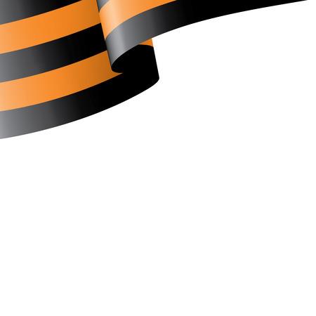 Vector illustration of Saint George ribbon on white background