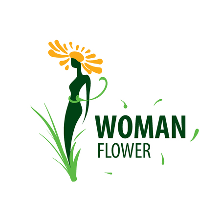 Girl in the shape of a flower. Vector illustration