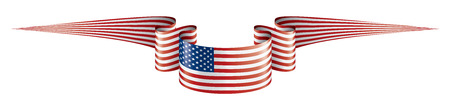 USA flag, vector illustration on a white background. Ilustracja