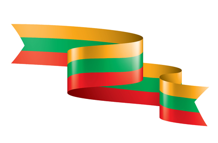 Lithuania flag, vector illustration on a white background Ilustracja