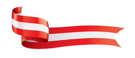 Austria flag, vector illustration on a white background.