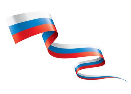 Bandera de Rusia, ilustración vectorial sobre fondo blanco.