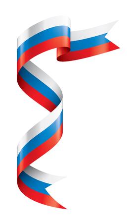 Bandera de Rusia, ilustración vectorial sobre fondo blanco. Ilustración de vector