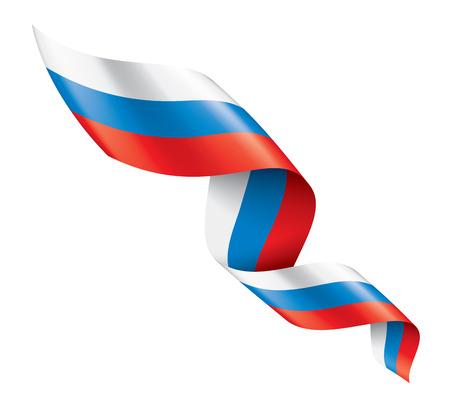 Russia flag, vector illustration on a white background. Reklamní fotografie - 122595322