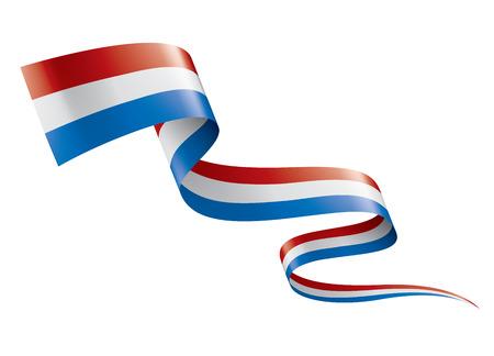 Bandiera olandese, illustrazione vettoriale su sfondo bianco.