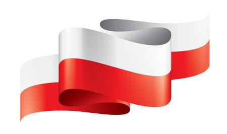 Polska flaga, wektor ilustracja na białym tle.