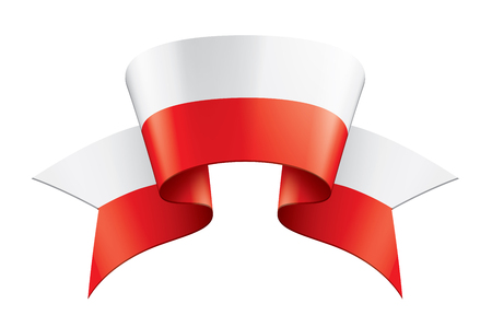 Poland flag, vector illustration on a white background. Stock fotó - 122595516