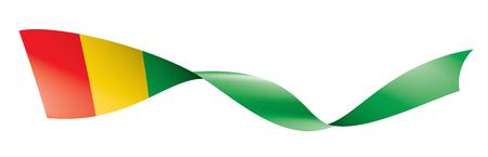 guinea flag, vector illustration on a white background.
