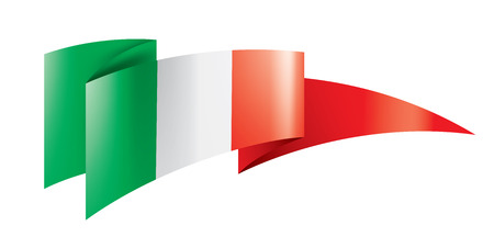 Italy flag, vector illustration on a white background Ilustrace