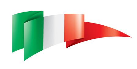 Italy flag, vector illustration on a white background Illustration