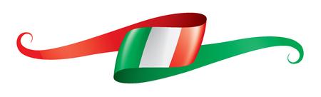 Vlag van Italië, vectorillustratie op een witte achtergrond