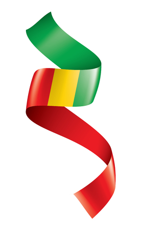 guinea flag, vector illustration on a white background.