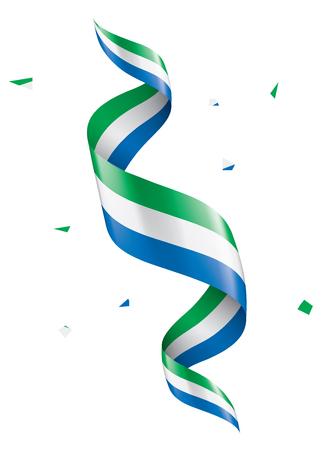 Sierra Leone flag, vector illustration on a white background