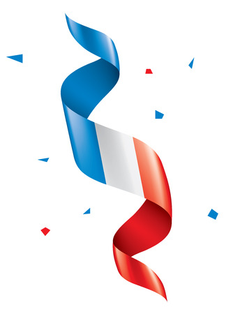 France flag, vector illustration on a white background Vettoriali