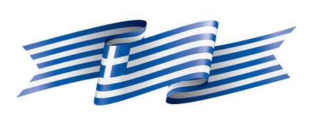 Greece flag, vector illustration on a white background