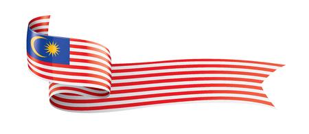 Malaysia-Flagge, Vektorillustration auf einem weißen Hintergrund
