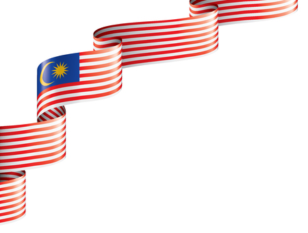 Malaysia flag, vector illustration on a white background Vecteurs