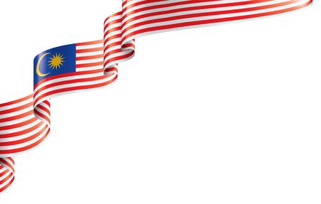 말레이시아 국기, 흰색 배경에 벡터 일러스트 레이 션