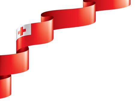 Tonga flag, vector illustration on a white background