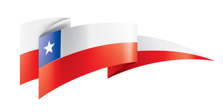Chile flag, vector illustration on a white background Vektorové ilustrace