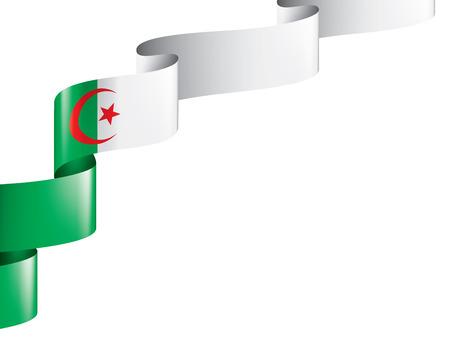 Algeria flag, vector illustration on a white background,