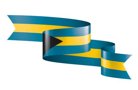 Bahamas flag, vector illustration on a white background. Иллюстрация