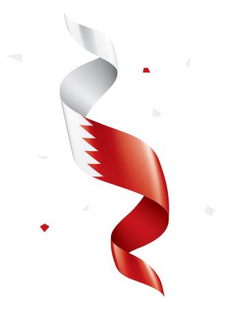 Drapeau de Bahreïn, illustration vectorielle sur fond blanc. Vecteurs