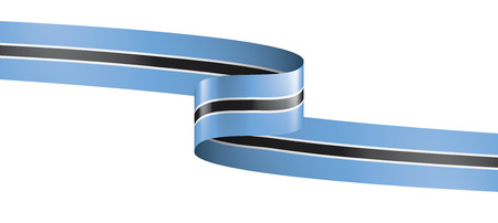 Botswana national flag, vector illustration on a white background