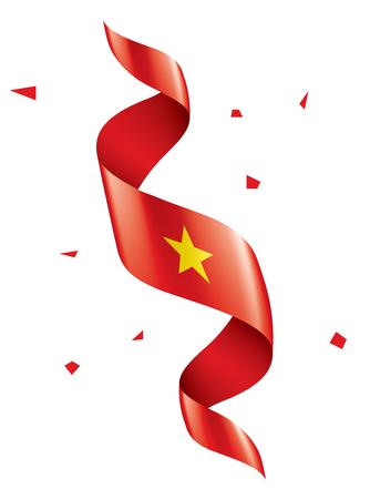Vietnam national flag, vector illustration on a white background Ilustração
