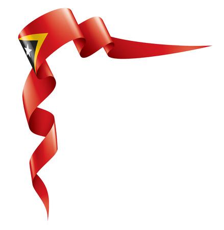 east timor national flag, vector illustration on a white background