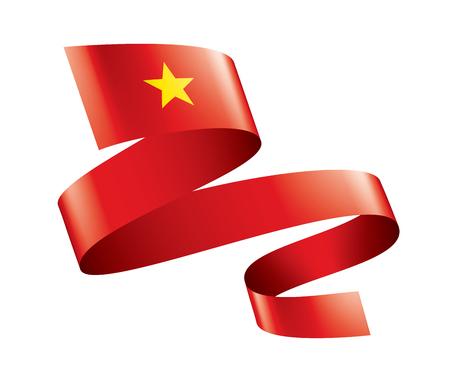 Vietnam national flag, vector illustration on a white background Ilustracja