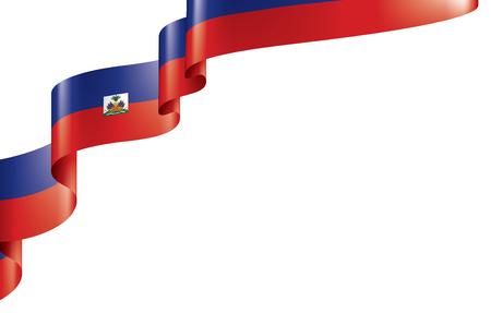 Haiti national flag, vector illustration on a white background Illustration