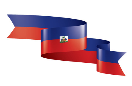 Haiti national flag, vector illustration on a white background Stock Illustratie